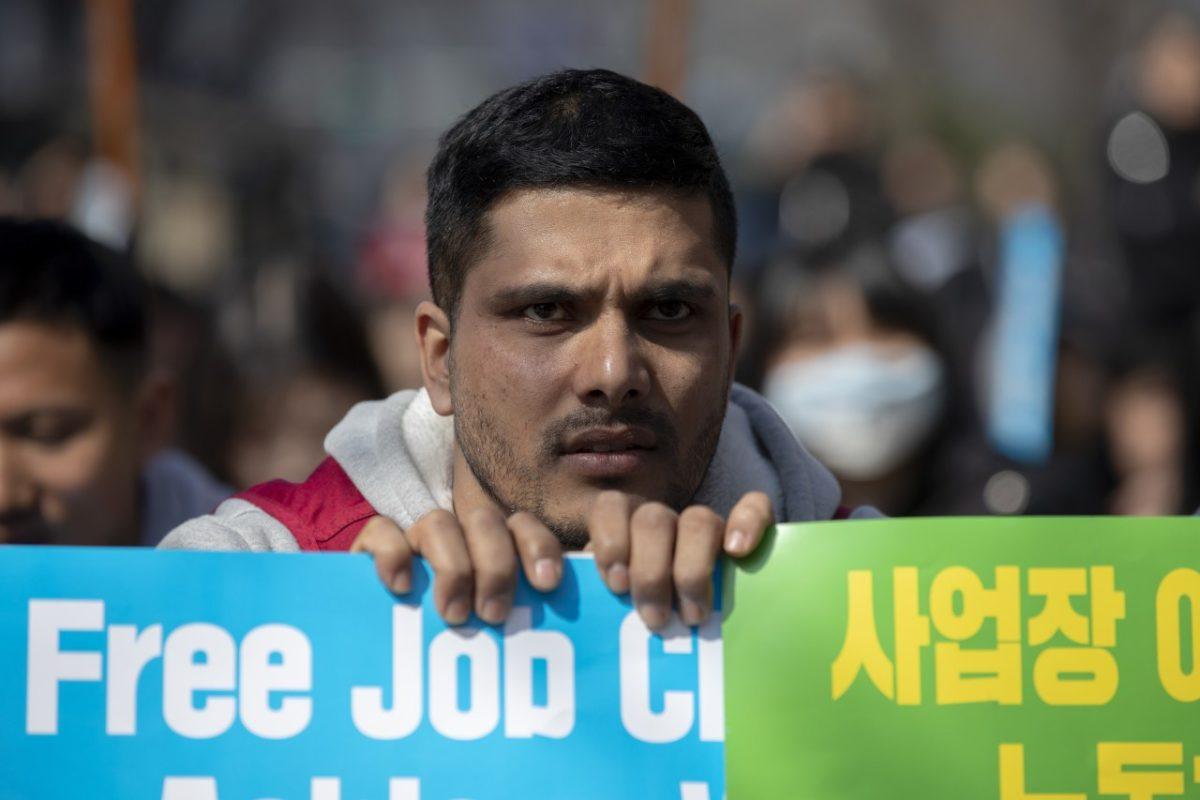 파이낸스빌딩 앞, 세계인종차별 철폐의 날 맞이 이주노동자 증언대회3(2019.03.17.)